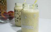 Milkshake de ananá y durazno
