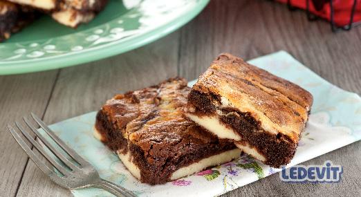 Brownie Cheesecake marmolado